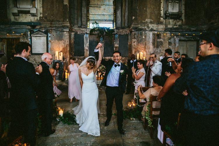 Candle Lit Wedding Ceremony At Asylum London