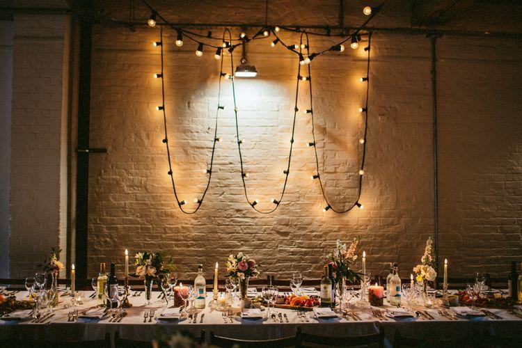 Festoon Lights Wedding Lighting