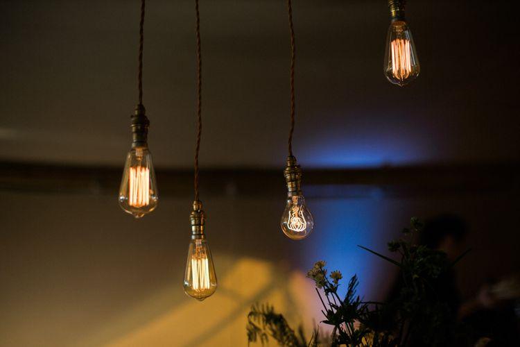 Edison Bulb Lighting For Wedding