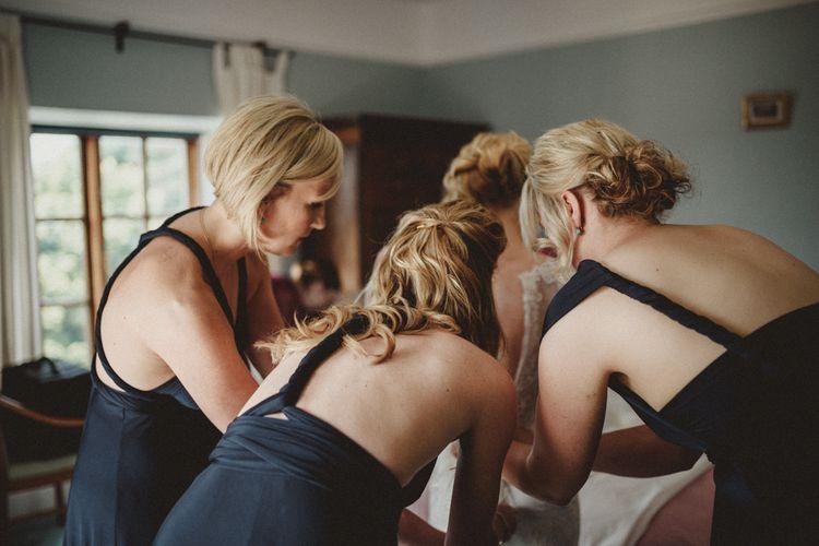 Bridesmaids in Navy Multiway Dresses