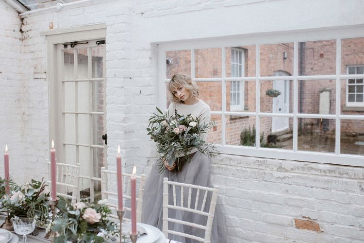 Grey & Blush Pink Wedding Details | Styling by One Stylish Day