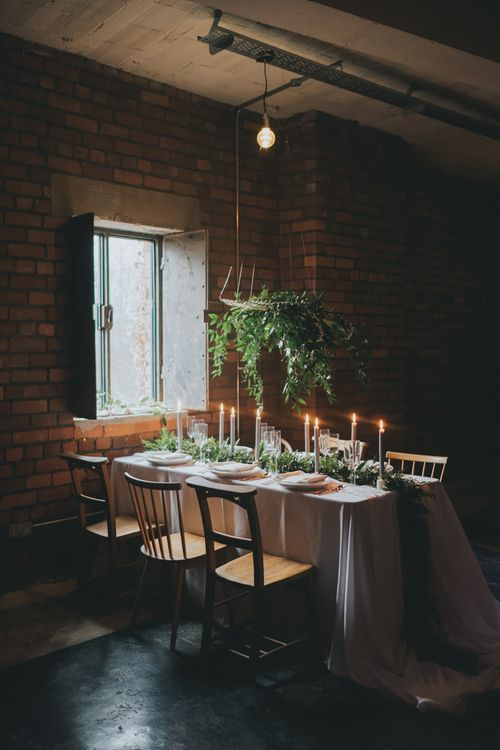 Industrial Wedding Styling With A Romantic Twist by One Stylish Day