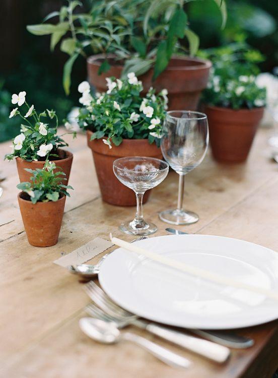 Living Flower Tablescape for Wedding