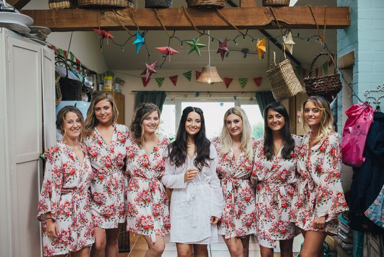 Bridal Party Getting Ready Robes | DIY Woodland Wedding in South Wales | Cat Beardsley Photography