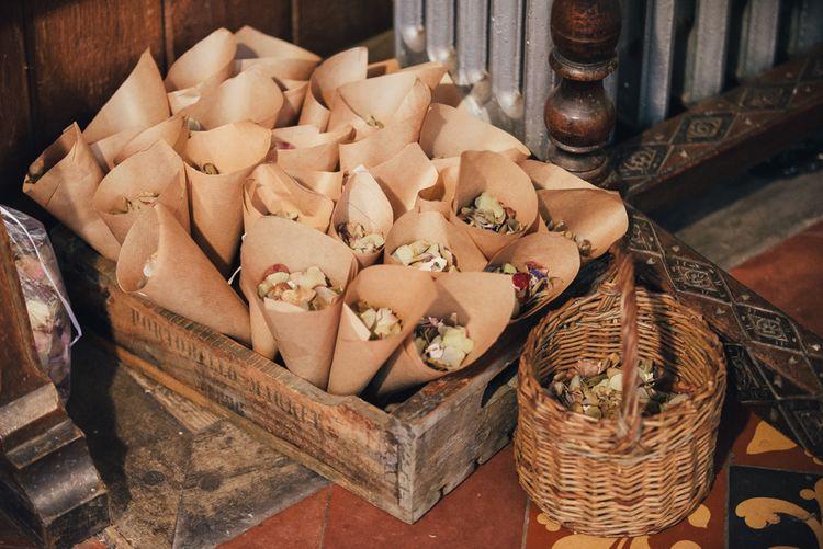 Confetti Cones | DIY Woodland Wedding in South Wales | Cat Beardsley Photography