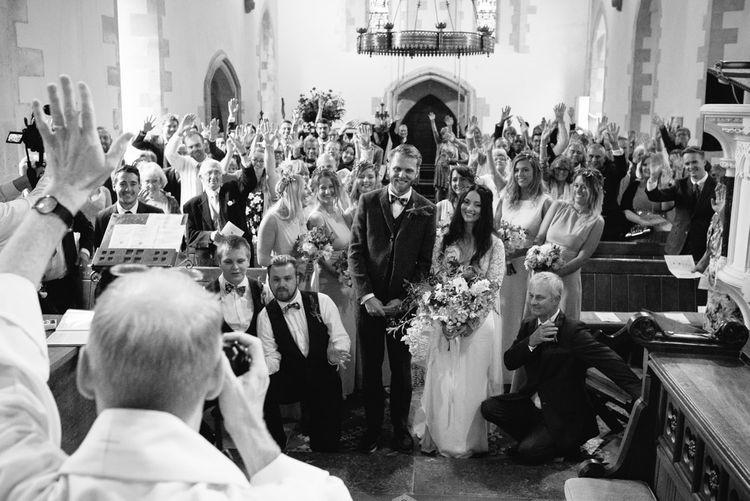 St Teilos Church Wedding Ceremony | DIY Woodland Wedding in South Wales | Cat Beardsley Photography