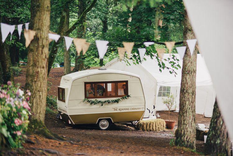Vintage Caravan Bar | DIY Woodland Wedding in South Wales | Cat Beardsley Photography