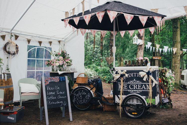 Ice Cream Bike | DIY Woodland Wedding in South Wales | Cat Beardsley Photography