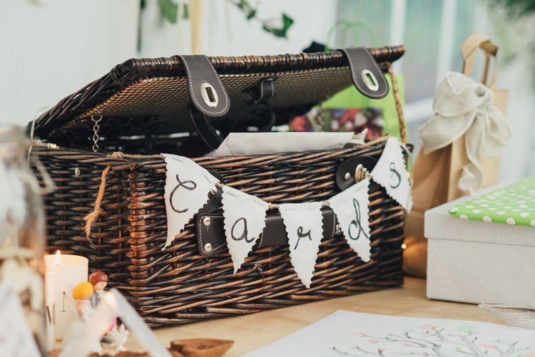 Wicker Basket Card Box | DIY Woodland Wedding in South Wales | Cat Beardsley Photography