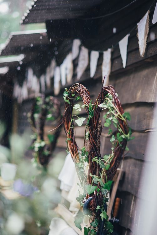 Bunting | DIY Woodland Wedding in South Wales | Cat Beardsley Photography
