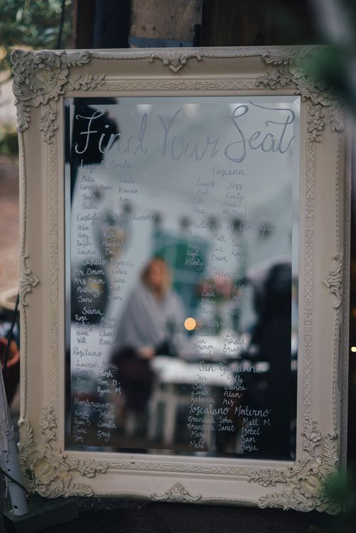 Mirror Table Plan | DIY Woodland Wedding in South Wales | Cat Beardsley Photography
