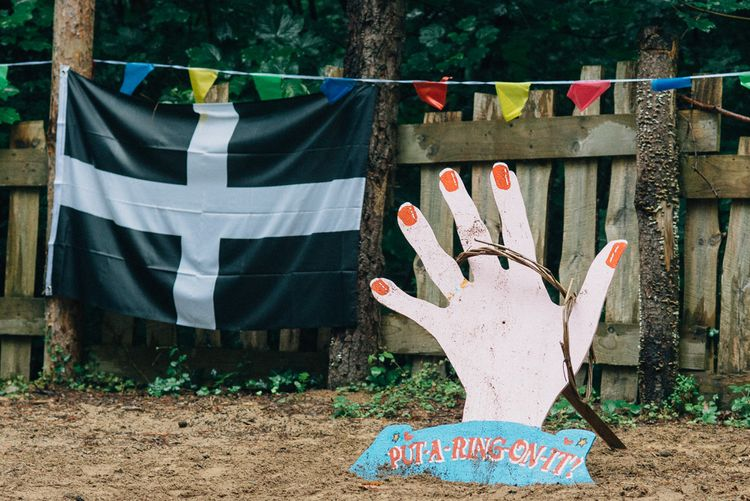 Put a Ring on It Garden Game s| DIY Woodland Wedding in South Wales | Cat Beardsley Photography