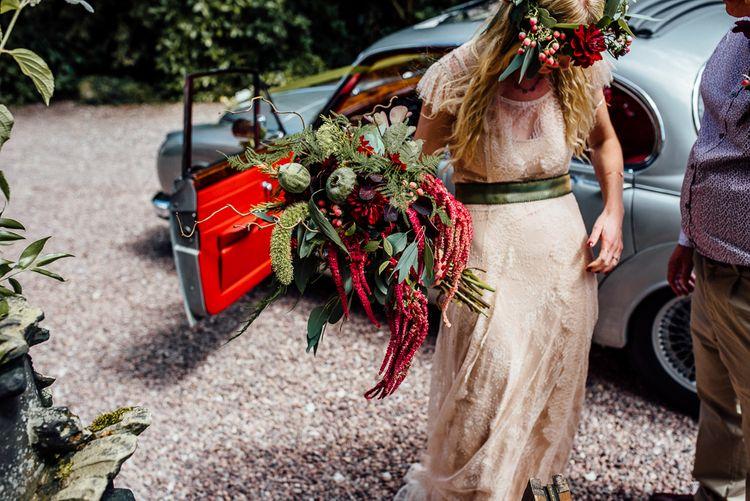 Bride in Blush Pink Gown by Katya Katya Shehurina