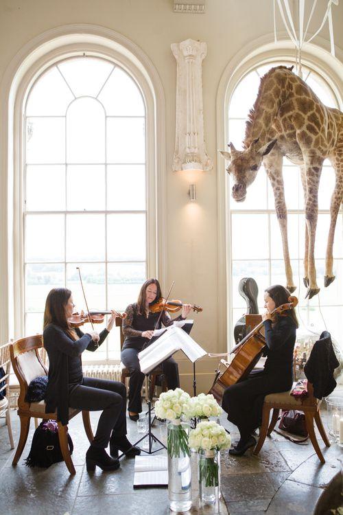 String Quartet | Elegant Wedding at Aynhoe Park, Oxfordshire | Lucy Davenport Photography