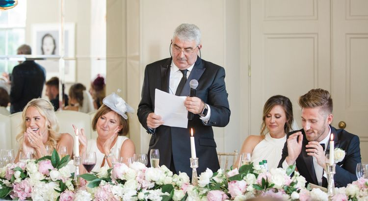 Speeches | Elegant Wedding at Aynhoe Park, Oxfordshire | Lucy Davenport Photography