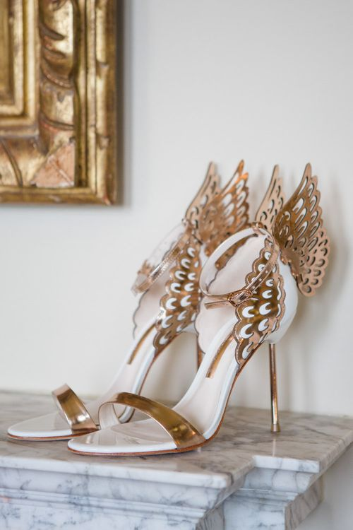 Sophia Webster Evangeline Shoes | Elegant Wedding at Aynhoe Park, Oxfordshire | Lucy Davenport Photography