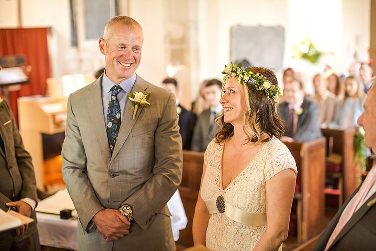 At Home Marquee Wedding Near Padstow Cornwall Old Rectory With Bride In Claire Pettibone & Images From Marianne Taylor Photography