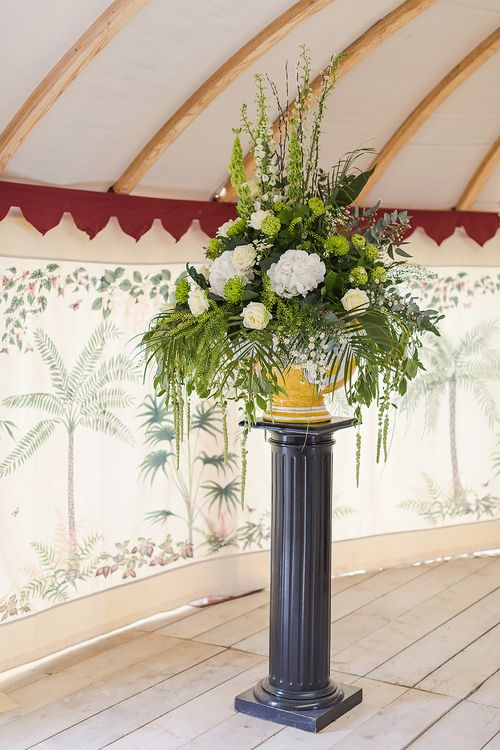 Floral Arrangement For Marquee Wedding