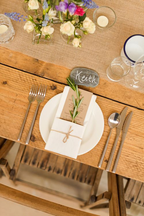 Rustic Place Setting For Wedding