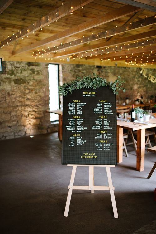 Barber Board Table Plan For Wedding