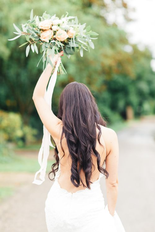 Bride in Backless Katie May Gown | Sung Blue Photography | ROOST Film Co.