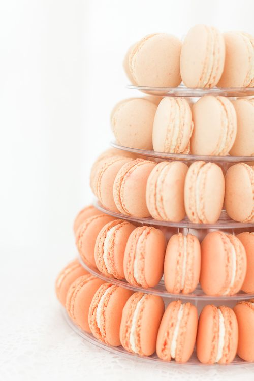 Peach Ambre Macaroon Tower | Sung Blue Photography | ROOST Film Co.