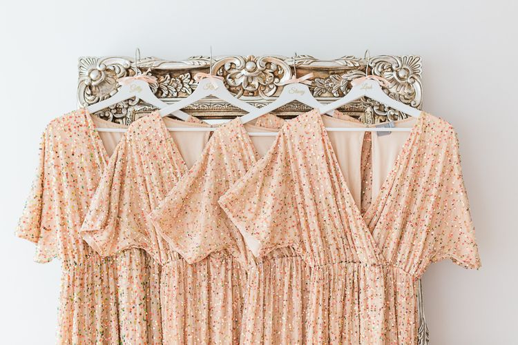 Peach Sequin ASOS Dresses | Sung Blue Photography | ROOST Film Co.