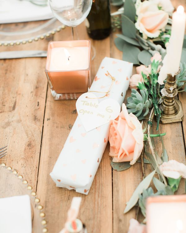 Elegant Peach, Copper & Rose Gold At Home Marquee Reception | Sung Blue Photography | ROOST Film Co.