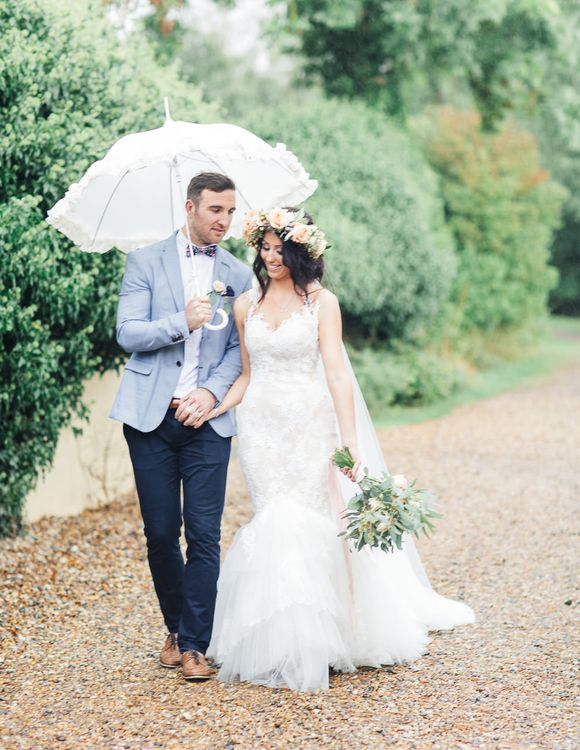 Bride in Backless Katie May Gown | Groom in Zara Blazer & Topman Trousers | Sung Blue Photography | ROOST Film Co.