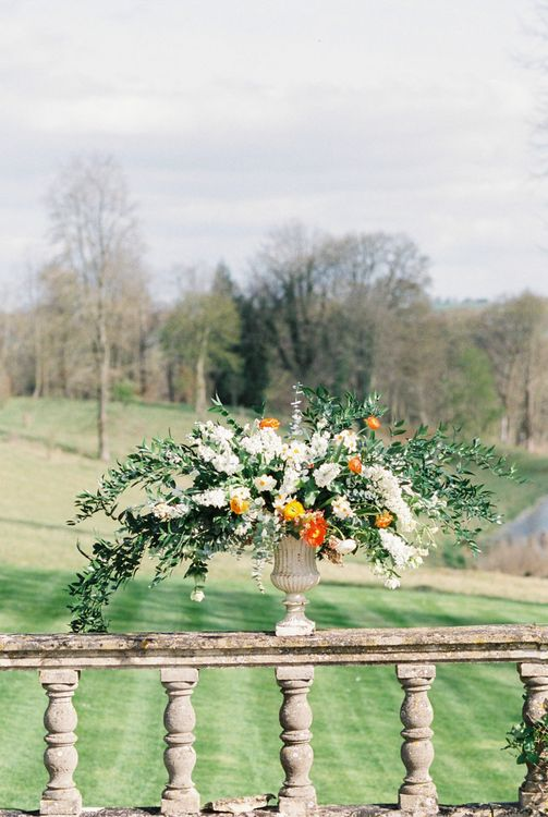 Elegant Wedding Inspiration at Cornwell Manor with Floral Design by Bramble and Wild | Bowtie & Belle Photography | Carmencita Film Lab | Baxter and Ted Films