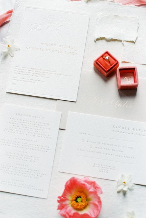 Gemma Milly Wedding Stationery | Bowtie & Belle Photography | Carmencita Film Lab | Baxter and Ted Films