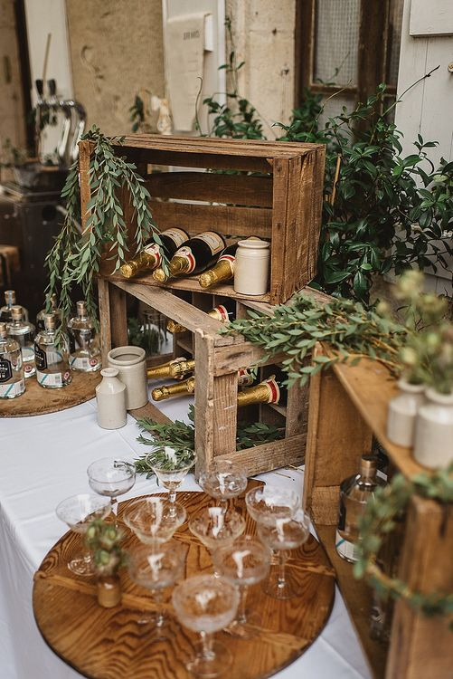 Champagne Bar With Props From Another Story Studio // Image By Darek Smietana