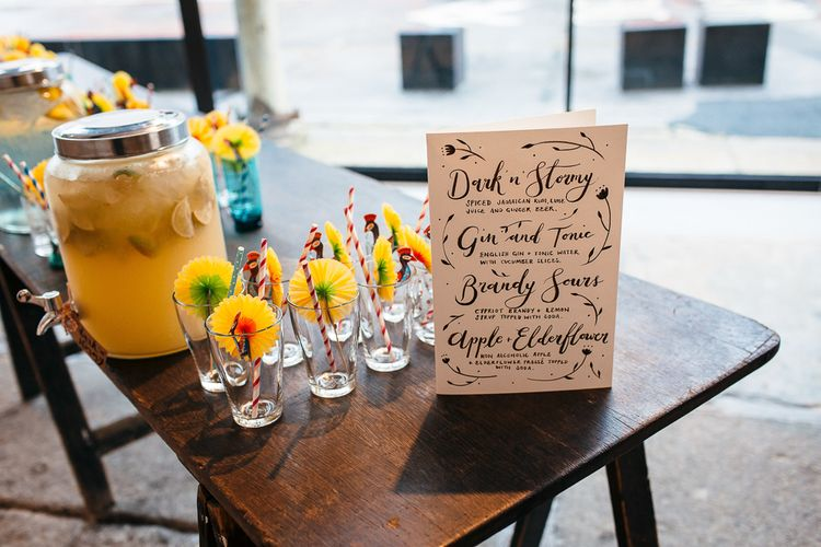 Cocktail Menu By Dearly Beloved Design // Image By Freckle Photography