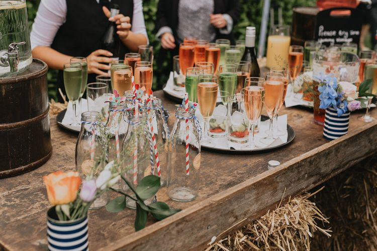 Champagne Cocktail Bar // Image By Kelsie Low Photography