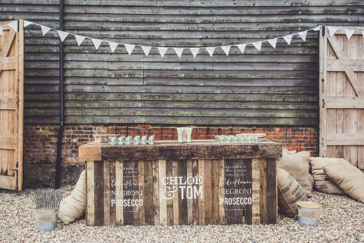 Personalised Wooden Bar // Made By Wood & Wood