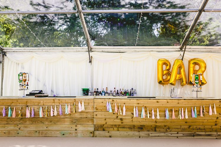 DIY Wedding Bar With Tassels & Balloons // Image By Love That Smile Photography