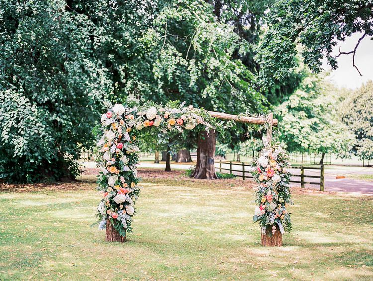 Floral Ceremony Arch By Blooming Divine