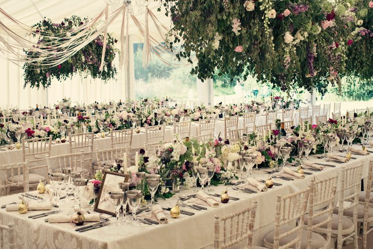 Hanging Florals For Wedding Reception By Michele Gledhill