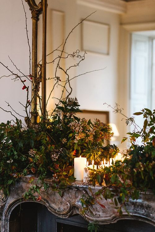Floral Arrangements For Fireplace By The Garden Gate Flower Company