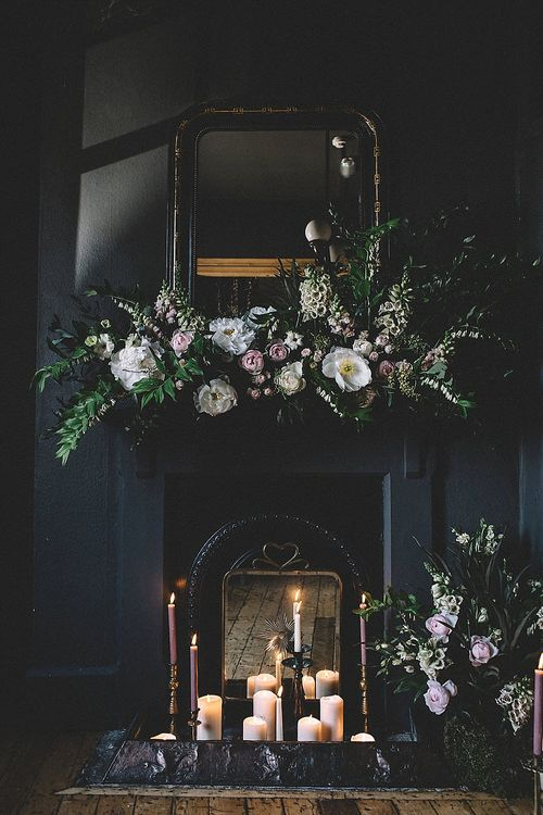 Floral Garland For Fireplace By Lily Lupin