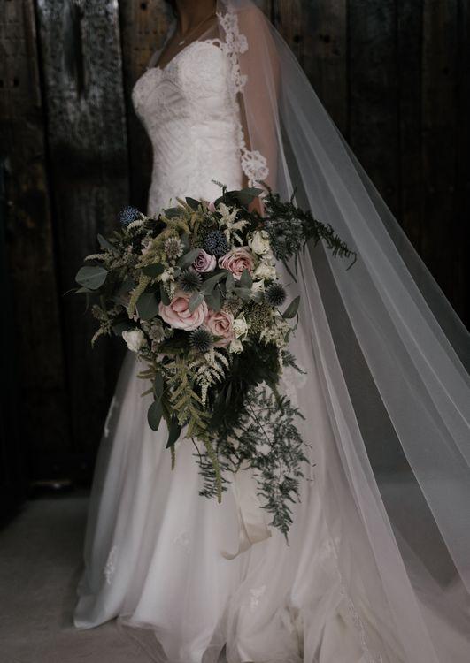 Beautiful Florals | Owen House Wedding Barn | Joyce Young London | Damian Brandon