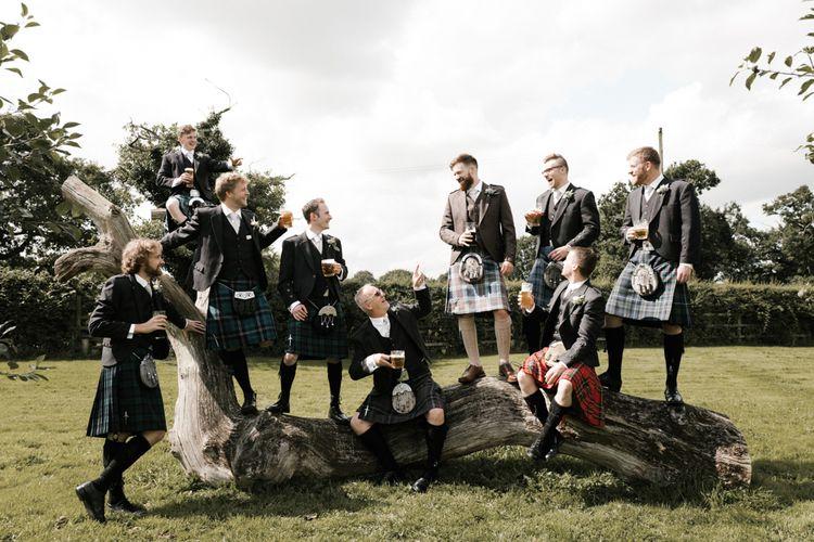 Groomsmen | Owen House Wedding Barn | Joyce Young London | Damian Brandon