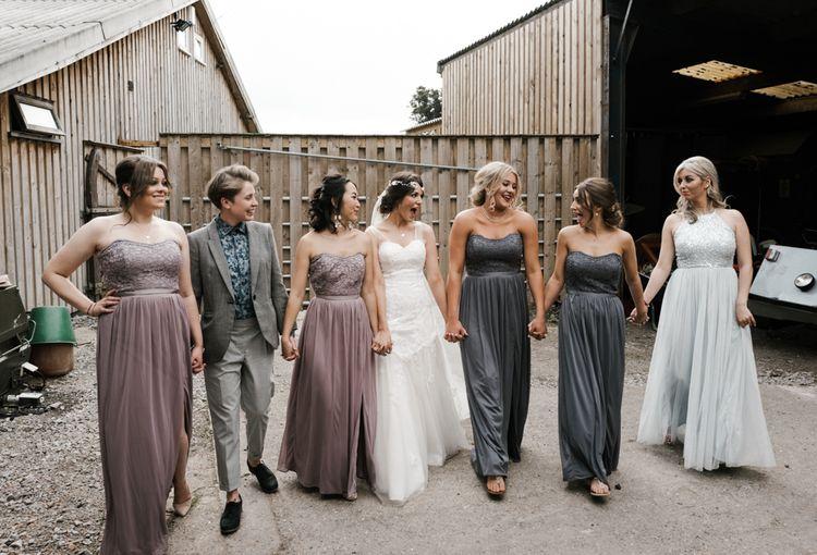 Bridesmaids | Owen House Wedding Barn | Joyce Young London | Damian Brandon