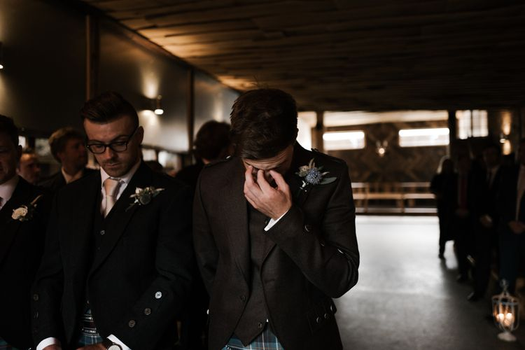 Waiting | Owen House Wedding Barn | Joyce Young London | Damian Brandon