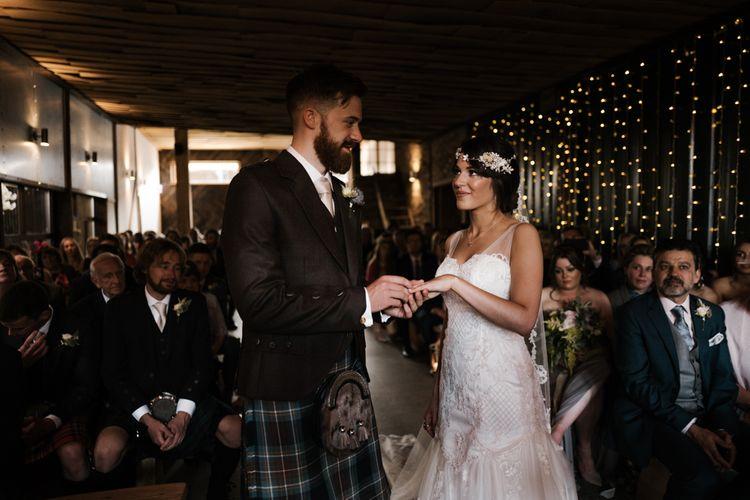 The Ceremony | Owen House Wedding Barn | Joyce Young London | Damian Brandon