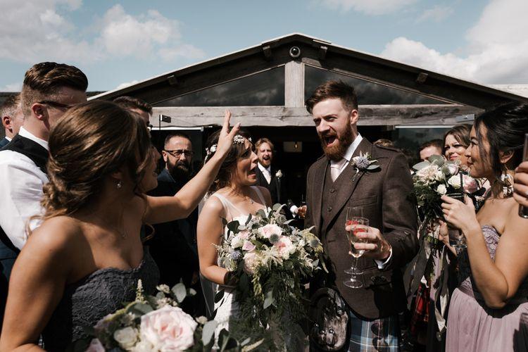 Confetti | Owen House Wedding Barn | Joyce Young London | Damian Brandon