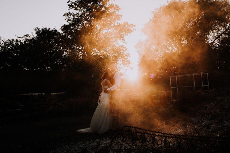 Bonfire Backdrops | Owen House Wedding Barn | Joyce Young London | Damian Brandon
