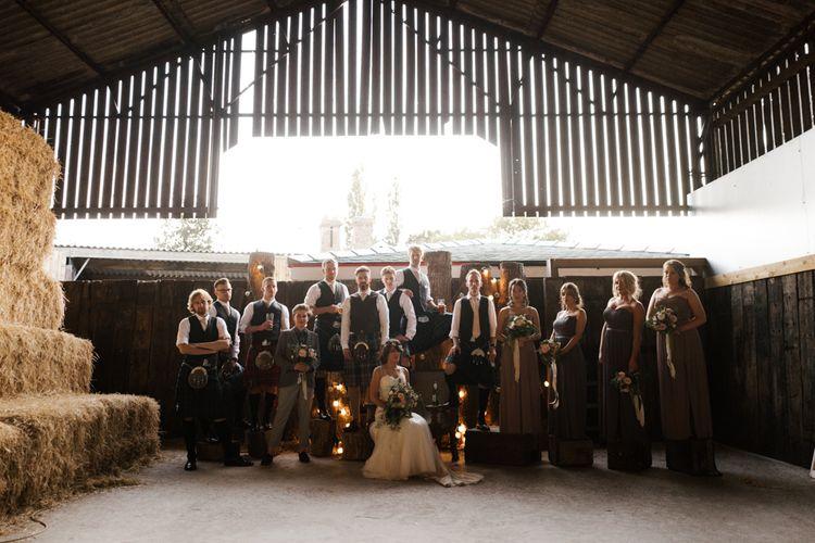 Group Shots | Owen House Wedding Barn | Joyce Young London | Damian Brandon