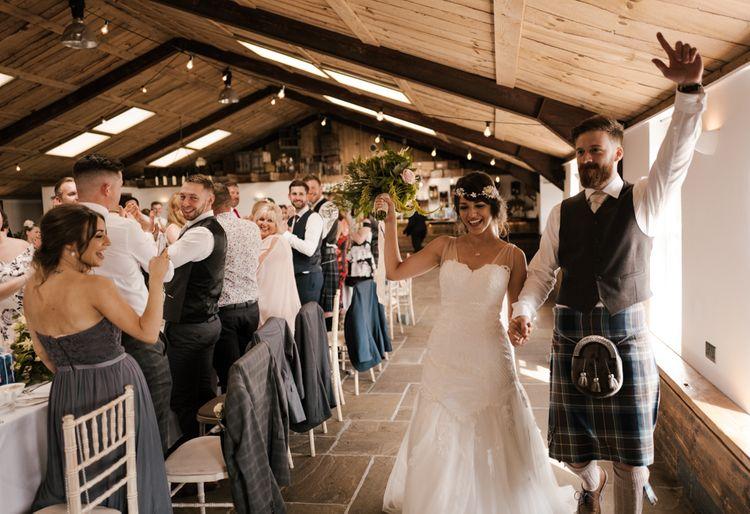Reception Entrance | Owen House Wedding Barn | Joyce Young London | Damian Brandon