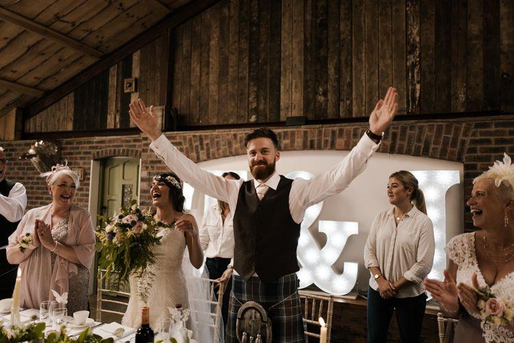 Speeches | Owen House Wedding Barn | Joyce Young London | Damian Brandon